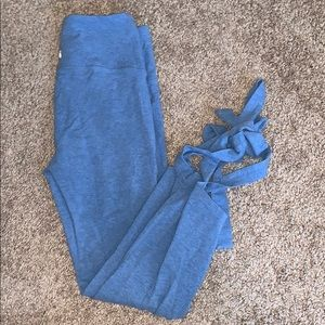GapFit xs ballet tie bottom crop leggings cotton